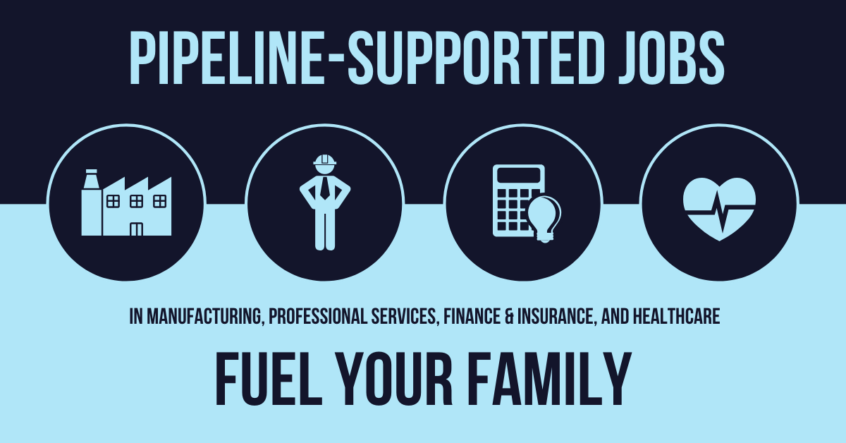 Pipeline-supported jobs fuel your family