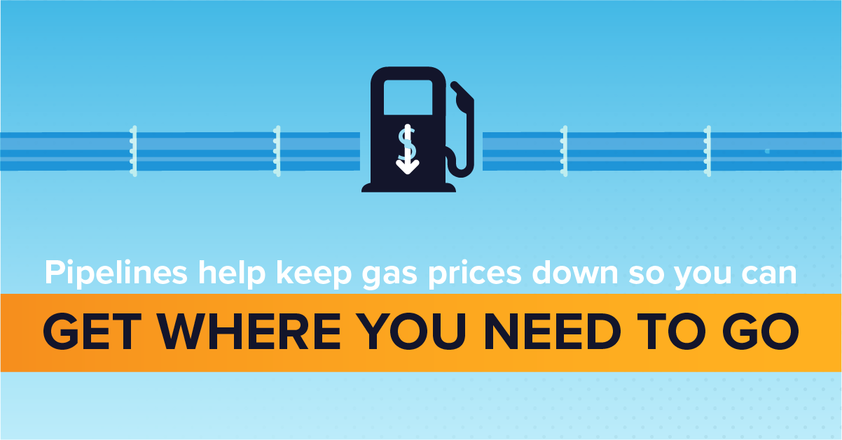 Pipelines Help Keep Gas Prices Down So You Can Get Where You Need to Go