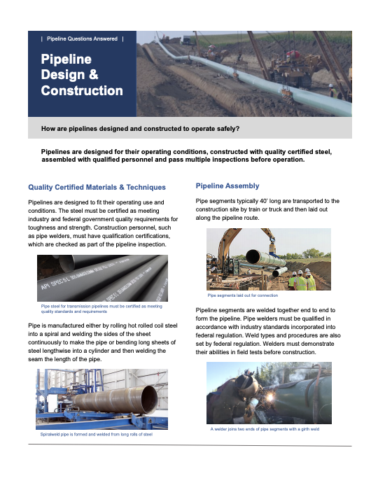 Pipeline Construction and Design