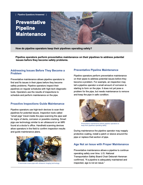 Preventative Pipeline Maintenance
