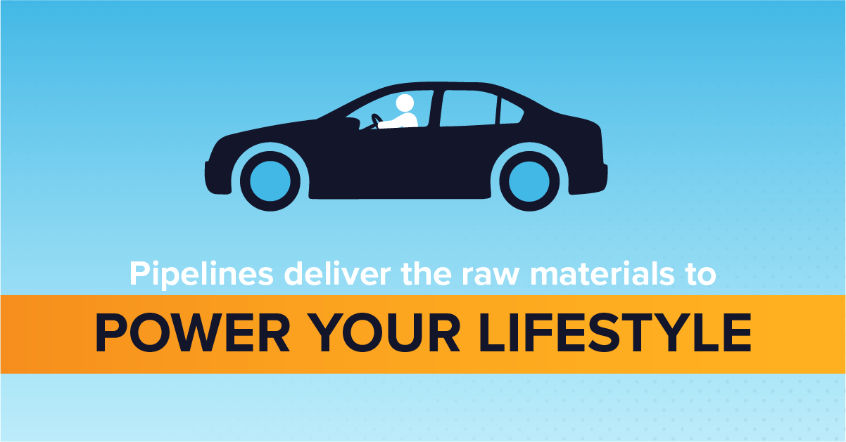 Pipelines Deliver the Raw Materials to Power Your Lifestyle graphic