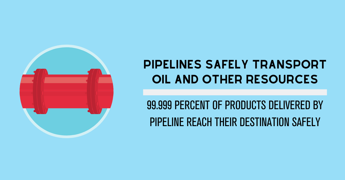 Pipelines Safely Transport Oil and Other Resources