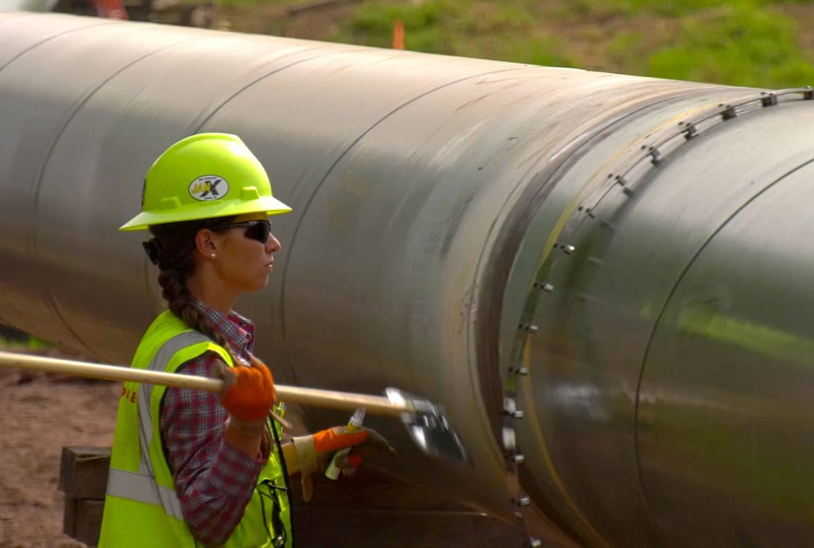 Pipeline worker operating on pipeline