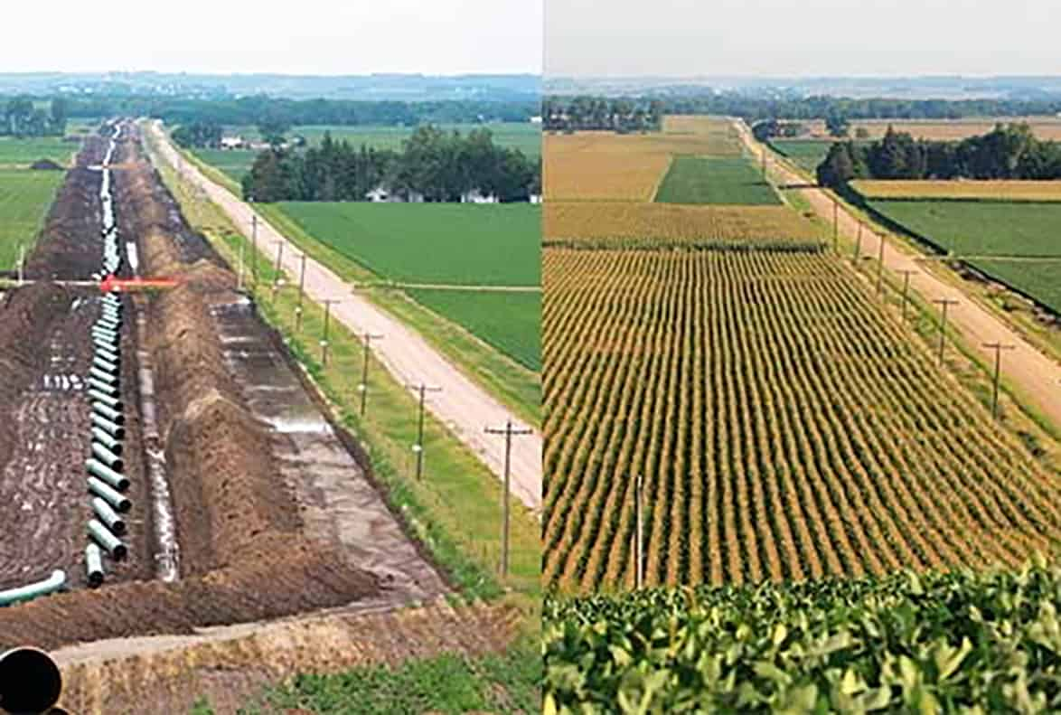 Before and after pipeline design and construction