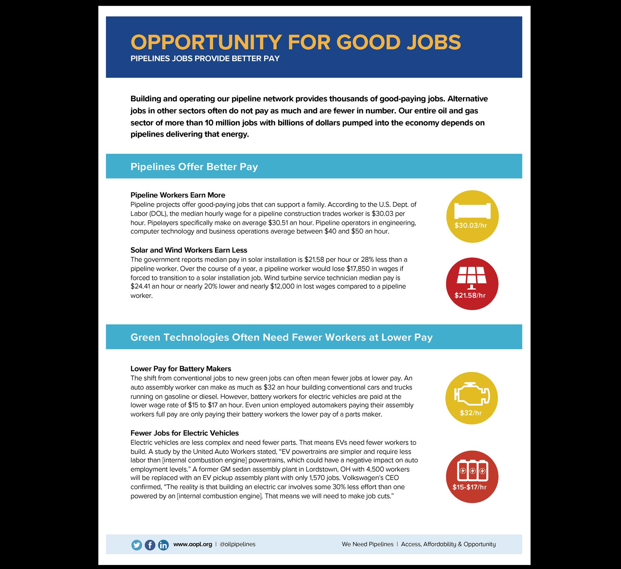 Opportunity for Good Jobs