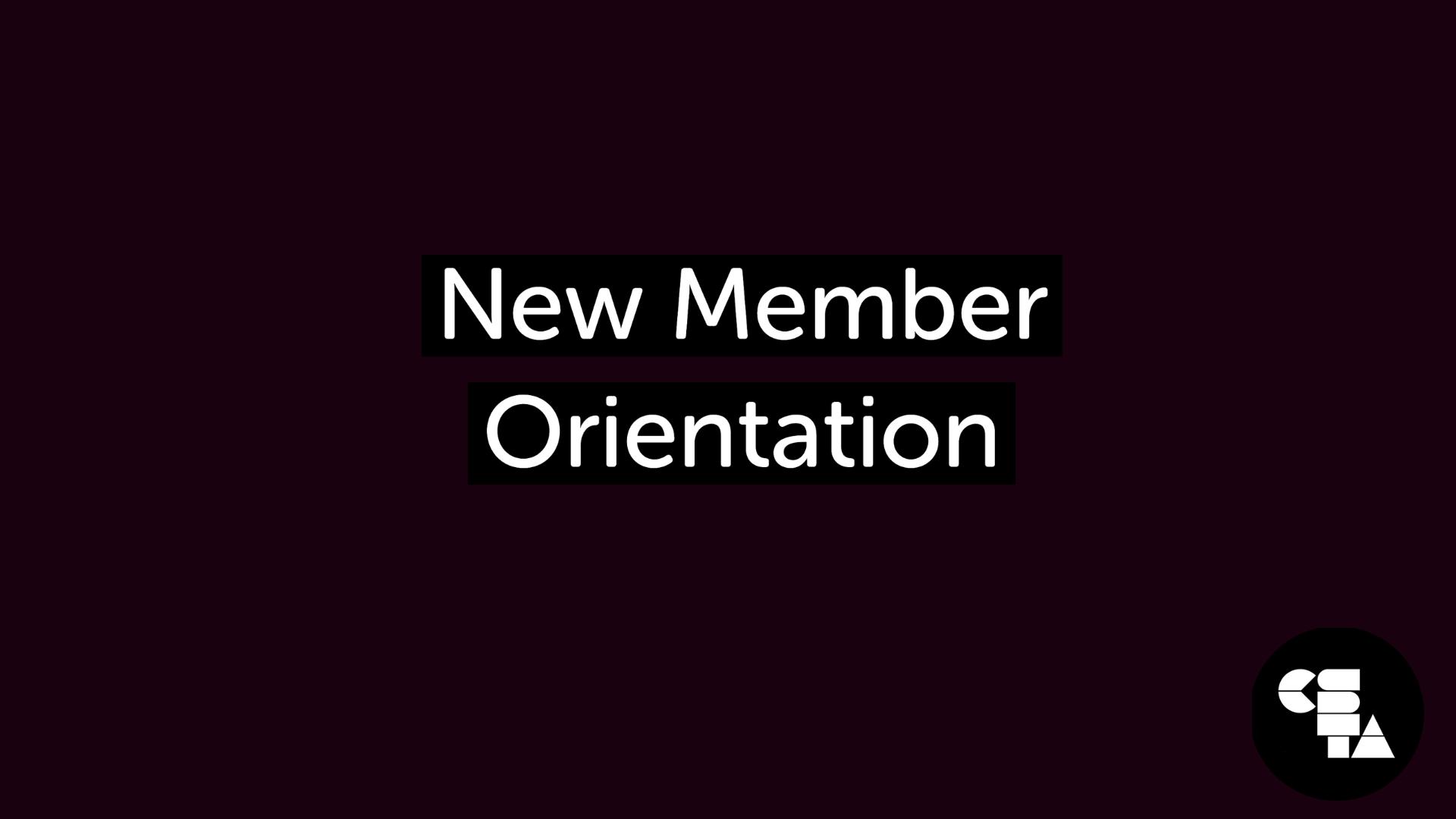 October New Member Orientation