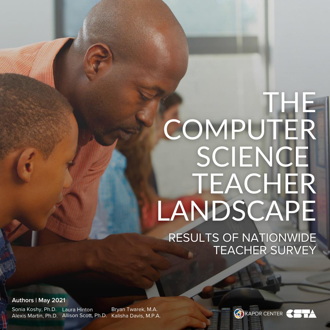 CS Teacher Landscape Report Cover