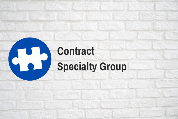 Contract Specialty Group Call