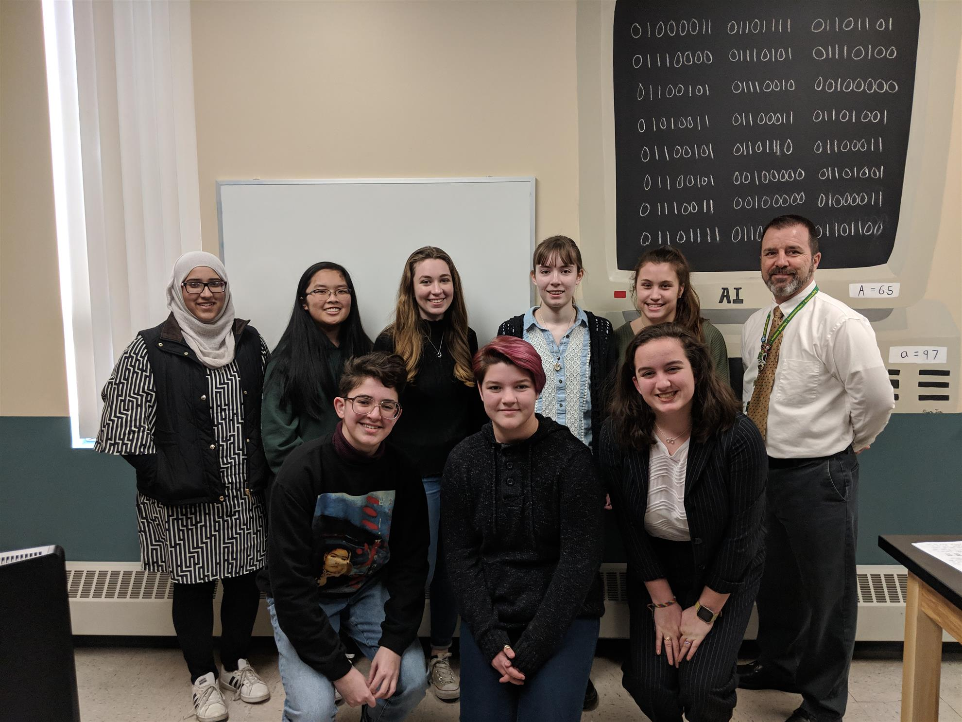 Girls who Code Club at Smithfield High School