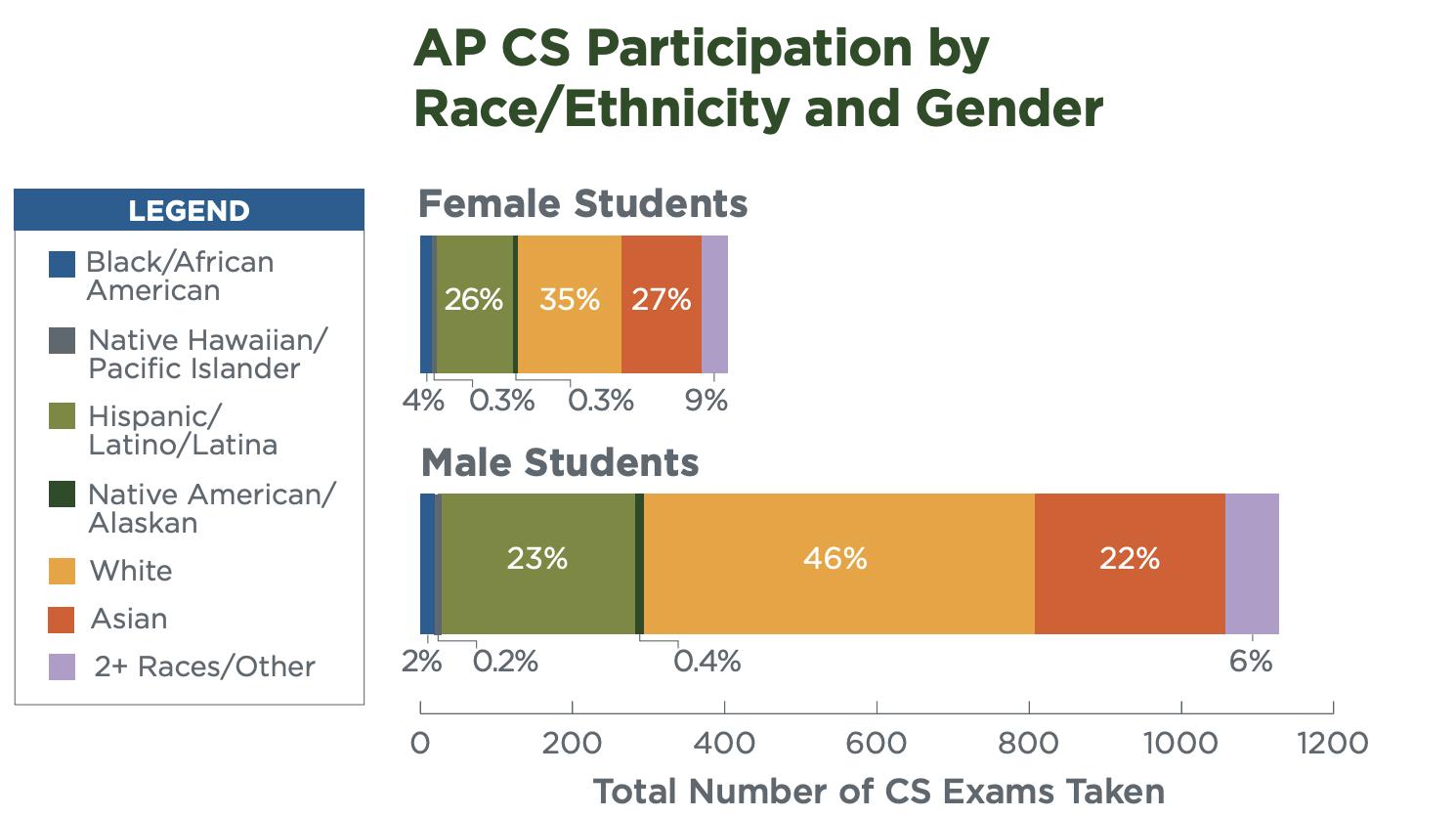 AP CS Participation by Race/Ethnicity & Gender