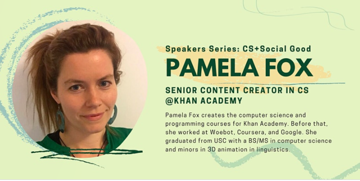Bay Area Youth Computer Science Council Speaker Series: Pamela Fox (CSTA San Mateo County (CA))