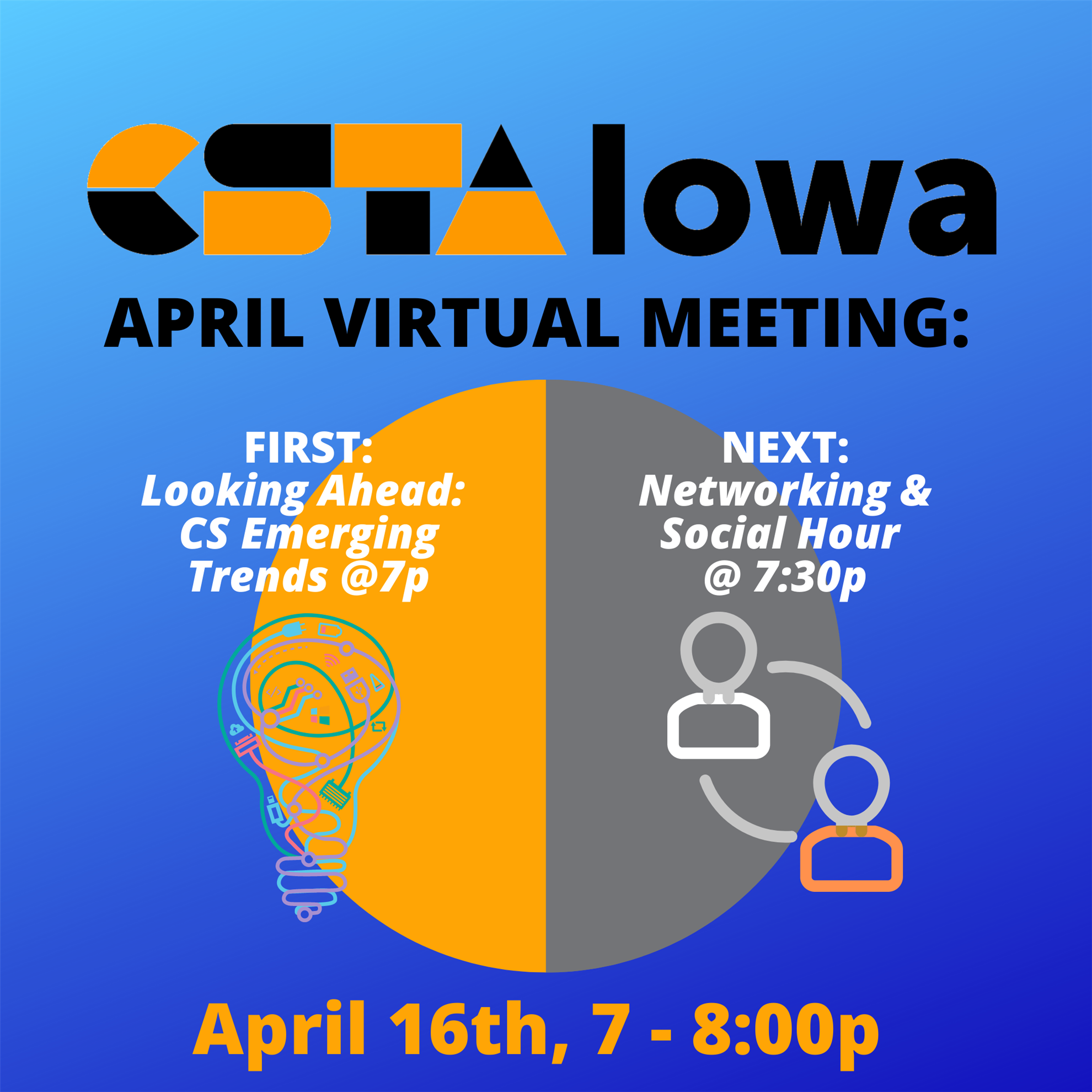 CSTA Iowa April Virtual Member Meeting & Social Hour (CSTA Iowa)