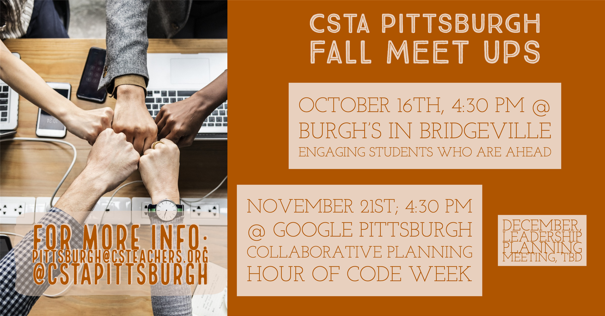Collaborative planning Hour of Code Week (CSTA Pittsburgh)
