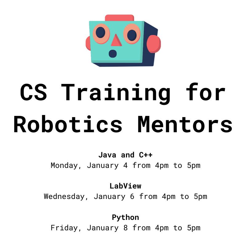 CS Training for Robotics Mentors - Java and C++ (CSTA Southern VA)