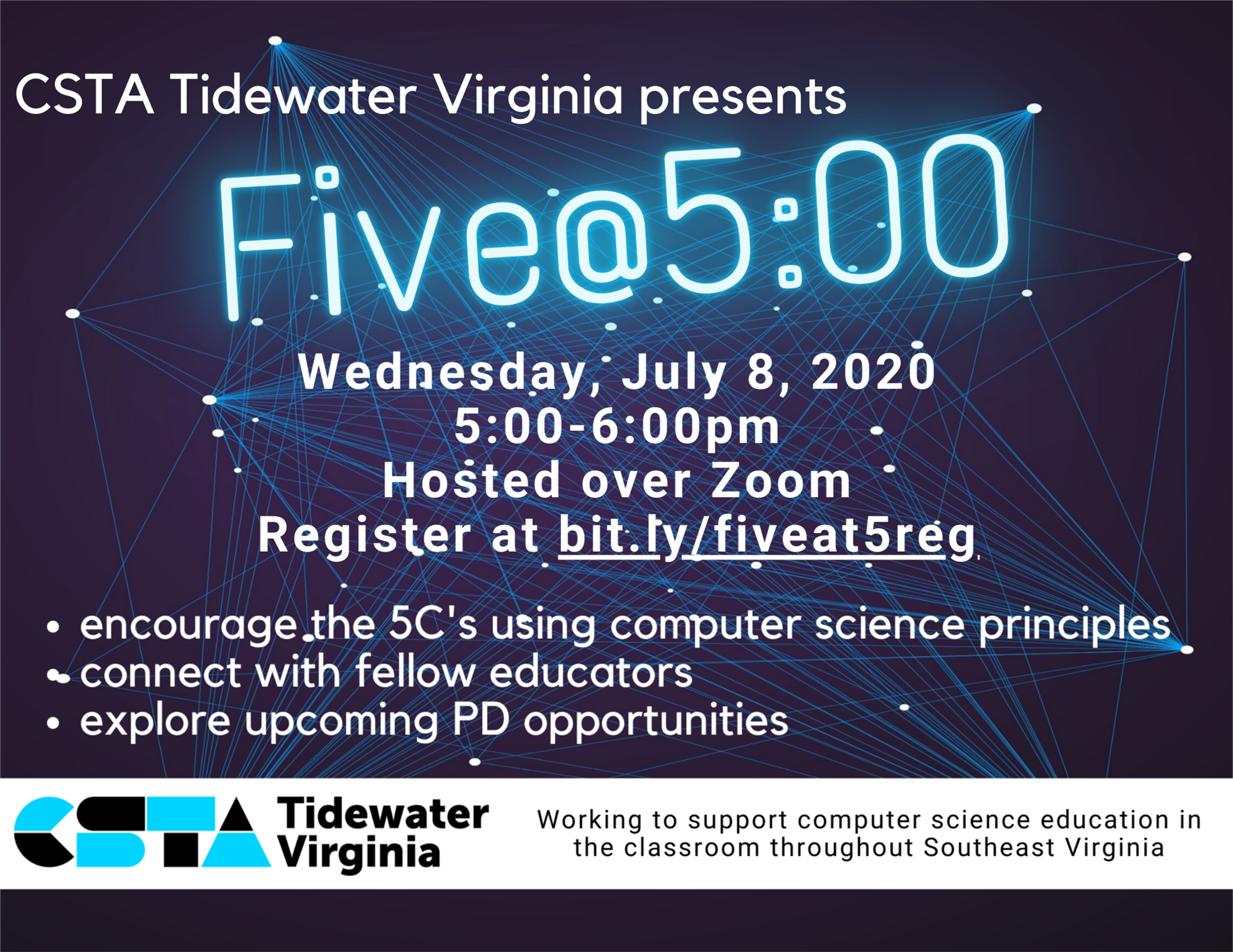 Five @ 5 (CSTA Tidewater Virginia)