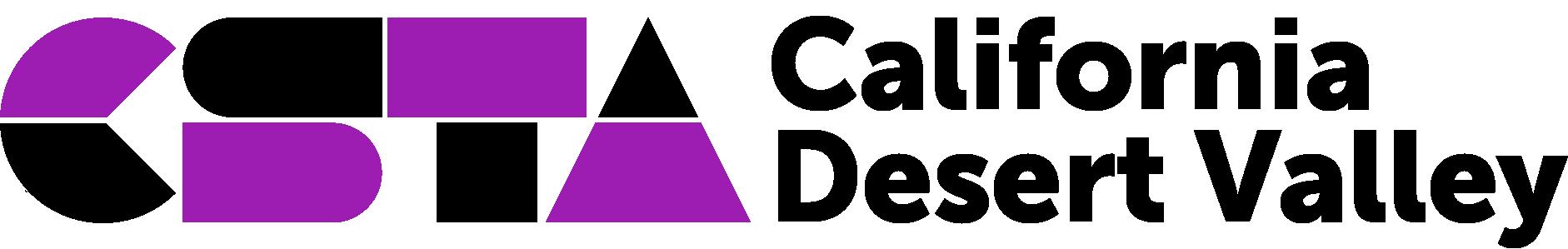 CSTA California Desert Valley logo